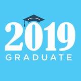 Class of 2019 Congratulations Graduate Typography Stock Photo