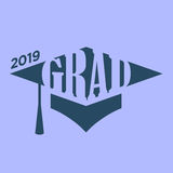 Class of 2019 Congratulations Graduate Typography Royalty Free Stock Photos