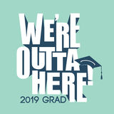 Class of 2019 Congratulations Graduate Typography Stock Photography