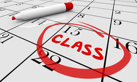 Class Course Training School Date Day Calendar stock illustration