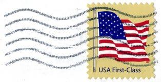 class den första portostämpeln USA Arkivbilder