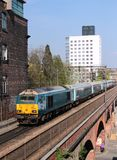 Class 67 diesel electric locomotive in Manchester Royalty Free Stock Images