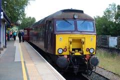 Class 57 diesel loco at rear Lakelander Windermere Stock Photos