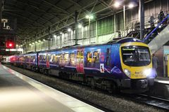 Class 185 diesel multiple unit Leeds station Royalty Free Stock Image