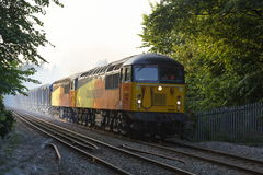 Class 56 56105 56087double head Stock Photo
