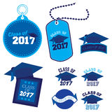 Class of 2017. Eight mnemonics on Class of 2017 in blue Royalty Free Stock Image