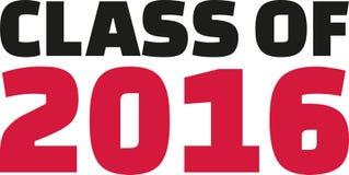 Class of 2016 font. Slogan vector Royalty Free Stock Photo