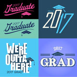 Class of 2017 Graduate Typography Royalty Free Stock Photos