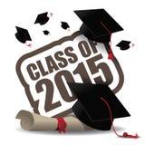 Class of 2015 graduation design. EPS 10 vector Stock Photography