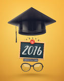 Class of 2016. Graduation, eps 10 Royalty Free Stock Image