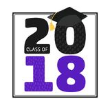 Class of 2018 Graduation Graphic Stock Images