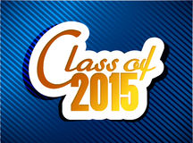 Class of 2015. graduation illustration design Royalty Free Stock Photography