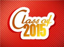 Class of 2015. graduation illustration design Royalty Free Stock Photos