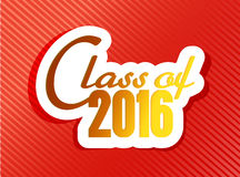 Class of 2016. graduation illustration Royalty Free Stock Images