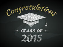 Class of Graduation Poster. Class of Graduation Congratulations Poster Vector Illustration Stock Photo