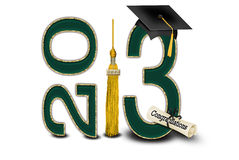 Class of 2013. Green and gold colors for class of 2013 stock illustration