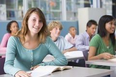 class high school schoolgirl Fotografia Stock