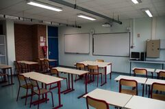 Free Class In A French High School, France Royalty Free Stock Photography - 180373377