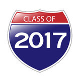 Class of 2017 Interstate Sign Stock Photography