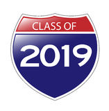 Class of 2019 Interstate Sign Stock Image