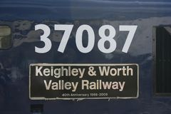 Class 37 37087 at the Keighley and Worth Valley Railway, West Yo. Rkshire, UK - June 2008 Royalty Free Stock Image