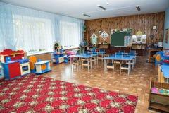 Class kindergarten, class in primary school. stock photo