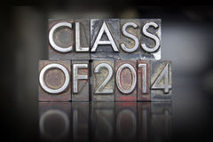 Class of 2014 Letterpress Stock Photography