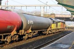 Class 60 locomotive with oil tanks, Carlisle Royalty Free Stock Photo
