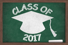 Class of 2017 Message Royalty Free Stock Images
