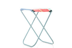 Class metal frame portable folding stool Stock Images
