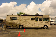 A class a motor home parked at fort myers Royalty Free Stock Images