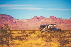Class A Motorhome RV Trip Stock Photography