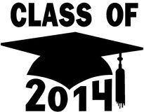 Class Of 2014 College High School Graduation Cap Stock Photos