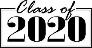 Free Class Of 2020 Boxed Banner Royalty Free Stock Photography - 149492717