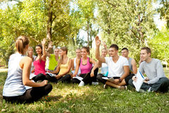 Class in park Royalty Free Stock Photo