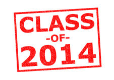 CLASS OF 2014. Red Rubber Stamp over a white background Royalty Free Stock Photography