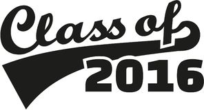 Class of 2016 retro font. Vector Royalty Free Stock Image