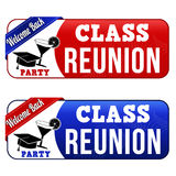 Class reunion banners Stock Image
