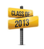 Class of 2013 road sign illustration design Royalty Free Stock Images