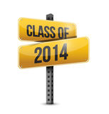 Class of 2014 road sign illustration design. Over a white background Stock Photography