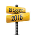 Class of 2015 road sign illustration design. Over a white background stock illustration