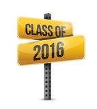 Class of 2016 road sign illustration design. Over a white background Royalty Free Stock Image