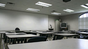 Class Room. View of class room from back Royalty Free Stock Image