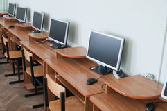 Class room at school. Royalty Free Stock Image