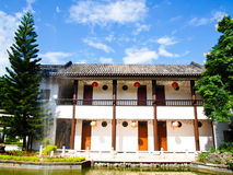 Class rooms in the Sirindhon Chinese cultural center, Mae Fah Lu Royalty Free Stock Photography