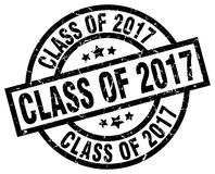 Class of 2017 round grunge stamp. Class of 2017 round grunge black stamp stock illustration