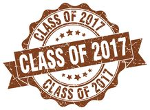 Class of 2017 seal. stamp. Class of 2017 round seal isolated on white background. class of 2017 Royalty Free Stock Image