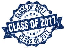 Class of 2017 seal. stamp. Class of 2017 round seal isolated on white background Stock Photography