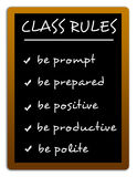 Class rules. Defining strict class rules to be obeyed Royalty Free Stock Photo