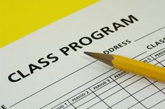 Class Schedule Stock Images